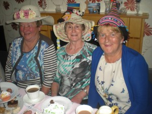 Violet, Marlet and Hilda at the MU Mad Hatters Tea Party, 17.05.15