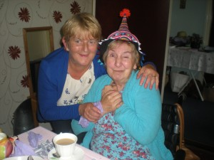 Hilda and Elizabeth at the MU Mad Hatters Tea Party, 17.05.15
