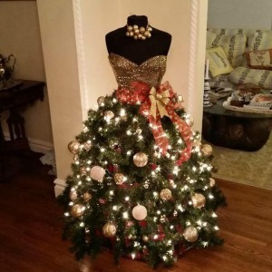 Christmas Evening Dress Tree