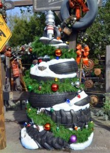 Christmas Tyre Tree